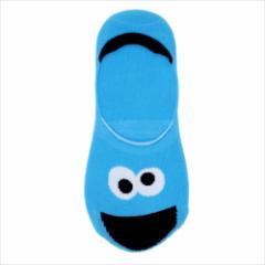 セサミストリート 女性用靴下 レディースフットカバー クッキーモンスター  キャラクターグッズ通販 メール便可