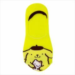 ポムポムプリン 女性用靴下 レディースフットカバー ハグ サンリオ キャラクターグッズ通販 メール便可