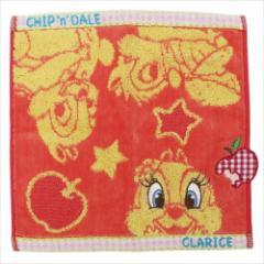 チップ&デール&クラリス ミニタオル ジャガードハンカチタオル カラーポップ ディズニー キャラクターグッズ通販 メール便可