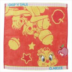 チップ&デール&クラリス ハンドタオル ジャガードゲストタオル カラーポップ ディズニー キャラクターグッズ通販 メール便可