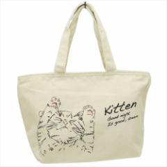 すやすや猫 保温保冷ランチバッグ 天ファスナー付きクーラーミニトートバッグ Neuf  お弁当かばんグッズ通販
