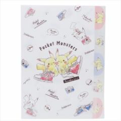 ポケットモンスター ファイル ダイカット5インデックスA4クリアファイル ピカチュウ スニーカー ポケモン キャラクターグッズ通販