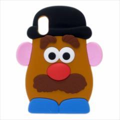 トイストーリー iPhoneXカバー アイフォンX ダイカットシリコンケース ミスターポテトヘッド ディズニー メール便可