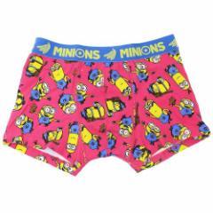 ミニオンズ 男性用 下着 メンズ ボクサーパンツ トリオちらし ピンク ユニバーサル映画 キャラクターグッズ通販 メール便可