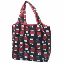 スヌーピー エコバッグ 折りたたみ くるくる ショッピングバッグ ハウス ピーナッツ キャラクターグッズ通販 メール便可