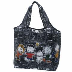 スヌーピー エコバッグ 折りたたみ くるくる ショッピングバッグ コミック ピーナッツ キャラクターグッズ通販 メール便可