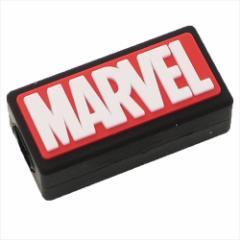 MARVEL スマホアクセ iPhoneケーブルマスコット BOXロゴ マーベル キャラクターグッズ通販 メール便可