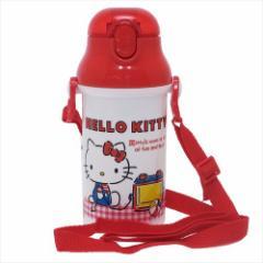ハローキティ 水筒 プラ製ストローボトル ギンガムチェック サンリオ キャラクターグッズ通販