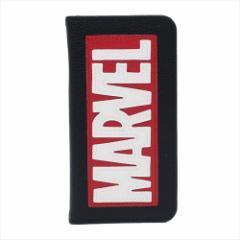 MARVEL iPhoneX ケース アイフォンX 手帳型フリップカバー ボックスロゴ マーベル キャラクターグッズ通販 【メール便可】