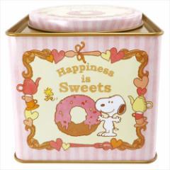 スヌーピー お菓子 チョコレート スクエア缶inクランチチョコレート バレンタイン ピーナッツ キャラクターグッズ通販