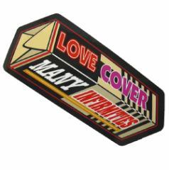 コトワザステッカー 愛は多くの欠点を覆う LOVE COVER MANY INFIRMITIES 防水加工 メール便可