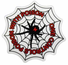 コトワザステッカー 毒を以て毒を刺す ONE CONTROLS POISON WITH POISON 防水加工 メール便可