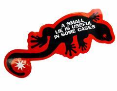 コトワザステッカー 嘘も方便 A SMALL LIE IS USEFUL IN SOME CASES 防水加工 メール便可