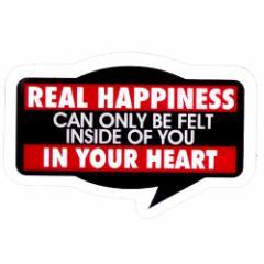 メッセージクリアミニステッカー 本当の幸せって心の中で感じるものなんだよ 防水加工 STICKER通販 メール便可