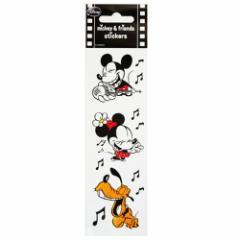 ミッキー&ミニー コミック ソング スリムステッカー ディズニー手帳デコシール通販 メール便可