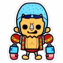 ワンピース×パンソンワークス 新世界篇 フランキー ミニステッカー アニメキャラクターグッズ通販 メール便可