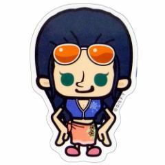 ワンピース×パンソンワークス 新世界篇 ロビン ミニステッカー アニメキャラクターグッズ通販 メール便可