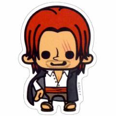 ワンピース×パンソンワークス 赤髪のシャンクス ミニステッカー アニメキャラクターグッズ通販 メール便可