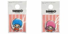 サンリオ×パンソンワークス キキ&ララ 1インチ缶バッジ サンリオキャラファッション雑貨通販 メール便可