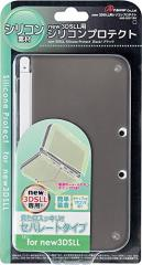 【新品】new 3DS LL用 シリコンプロテクト (ブラック)[お取寄せ品]