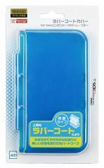 【新品】ラバーコートカバー for Newニンテンドー3DSLL ブルー[在庫品]