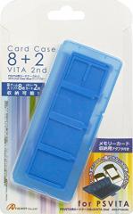 【新品】【PSVHD】PS VITA用カードケース8+2 VITA 2nd(ブルー)[お取寄せ品]