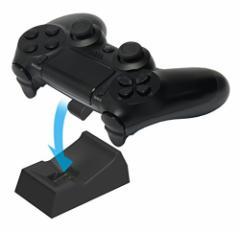 【新品】【PS4HD】置くだけ充電スタンド 1台用for ワイヤレスコントローラー(DUALSHOCK4) ブラック[お取寄せ品]