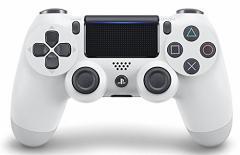 【新品】【PS4HD】ワイヤレスコントローラー(DUALSHOCK4)グレイシャー・ホワイト[在庫品]