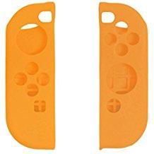 【新品】【NSHD】CYBER・シリコングリップカバー セット (SWITCH Joy-Con用) オレンジ[お取寄せ品]