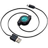 【07/15発売★予約】【新品】【3DSH】CYBER・USB巻き取り充電ケーブル (New 2DS LL用)ブラック×ブルー[予約品]