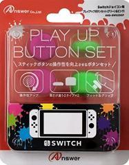 【新品】【NSHD】Switchジョイコン用プレイアップボタンセット(グリーン&ピンク)[お取寄せ品]
