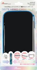 【新品】【3DSH】new2DSLL用 セミハードケース スリム(ブラック×ターコイズ)[お取寄せ品]
