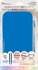 【新品】【3DSH】new2DSLL用 セミハードケース スリム (ターコイズ×ホワイト)[お取寄せ品]