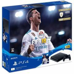 【即納可能】【新品】プレイステーション4  FIFA 18 Pack【ジェット・ブラック1TB本体(CUH-2100BB01)同梱】【代引&銀振不可】PS4本体