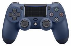 【新品】【PS4HD】ワイヤレスコントローラー(DUALSHOCK4)ミッドナイト・ブルー[在庫品]