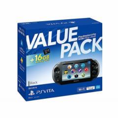 【新品】【PSVHD】PlayStationVita 16GB バリューパック ブラック PCHJ-10032[在庫品]
