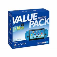 【新品】【PSVHD】PlayStationVita 16GB バリューパック アクア・ブルー PCHJ-10033[在庫品]