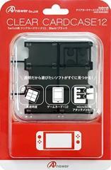 【02/28発売★予約】【新品】【NSHD】Switch用 クリアカードケース12(ブラック)[予約品]
