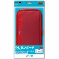 【新品】【WiiUHD】やわらかポーチ for Wii U GamePad レッド[お取寄せ品]