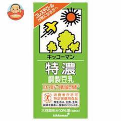 【送料無料】キッコーマン 特濃調製豆乳【特定保健用食品 特保】 1000ml紙パック×12(6×2)本入