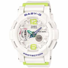 CASIO BABY-G カシオ ベビーG G-LIDE Gライド 腕時計 レディース アナログ ホワイト BGA-180-7B2JF