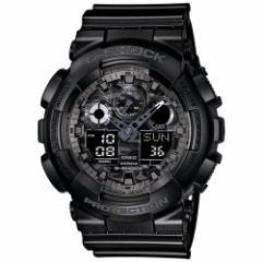 カシオ Gショック CASIO G-SHOCK カモフラージュダイアル 腕時計 メンズ ブラック アナデジ GA-100CF-1AJF