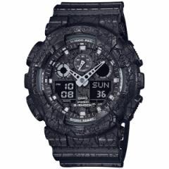 カシオ Gショック CASIO G-SHOCK 限定モデル 腕時計 メンズ クラックド・パターン 黒 ブラック アナデジ GA-100CG-1AJF