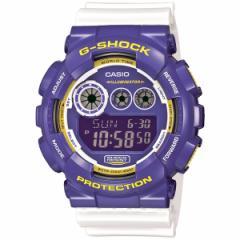 カシオ Gショック CASIO G-SHOCK 限定モデル クレイジーカラーズ 腕時計 メンズ デジタル パープル×ホワイト GD-120CS-6JF
