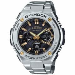 カシオ Gショック Gスチール CASIO G-SHOCK G-STEEL 電波 ソーラー 電波時計 腕時計 メンズ ブラック×ゴールド GST-W110D-1A9JF