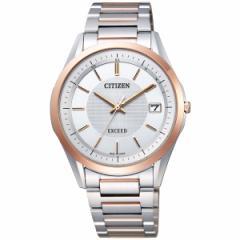 シチズン エクシード CITIZEN EXCEED エコドライブ ソーラー 電波時計 腕時計 メンズ ペアウォッチ 薄型ペア AS7094-76A