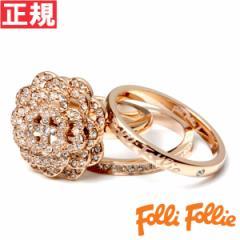 フォリフォリ Folli Follie リング 54号(日本サイズ約14号) Winter Dream SANTORINI FLOWER RING 3R15T024RC54