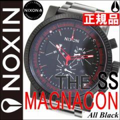 ニクソン NIXON 腕時計 MAGNACON SS マグナコンエスエス 腕時計 メンズ NA154001-00 オールブラック NIXON 正規 ニクソン