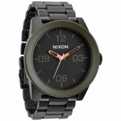 ニクソン NIXON コーポラルSS CORPORAL SS 腕時計 メンズ マットブラック/インダストリアルグリーン NA3461530-00