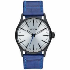 ニクソン NIXON セントリー38レザー SENTRY 38 LEATHER 腕時計 レディース/メンズ ブラック/ブルーゲーター NA3772131-00